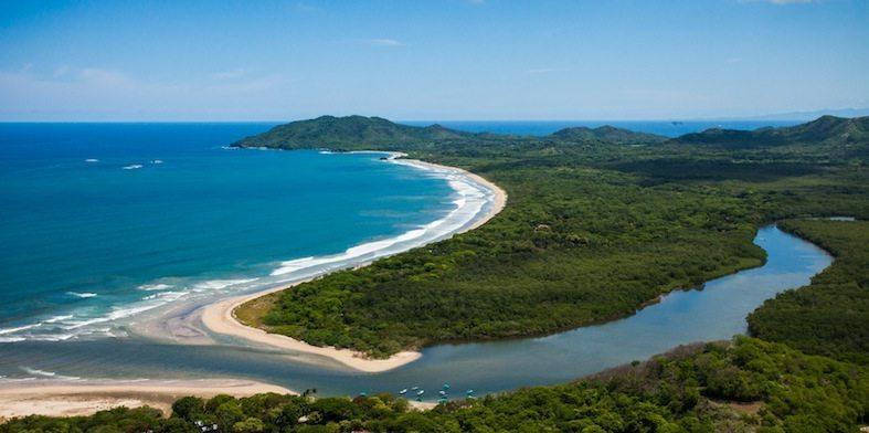 Aerial view of Playa Grande and Estuary