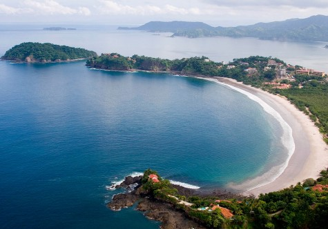 Beautiful aerial view of Flamingo Beach, Costa Rica