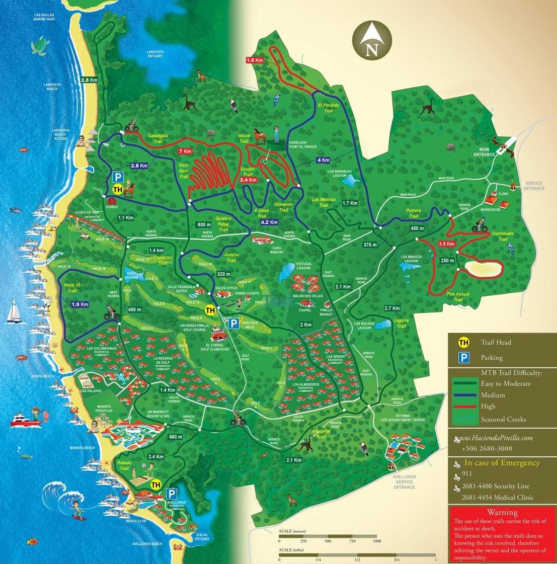 Hacienda Pinilla Map