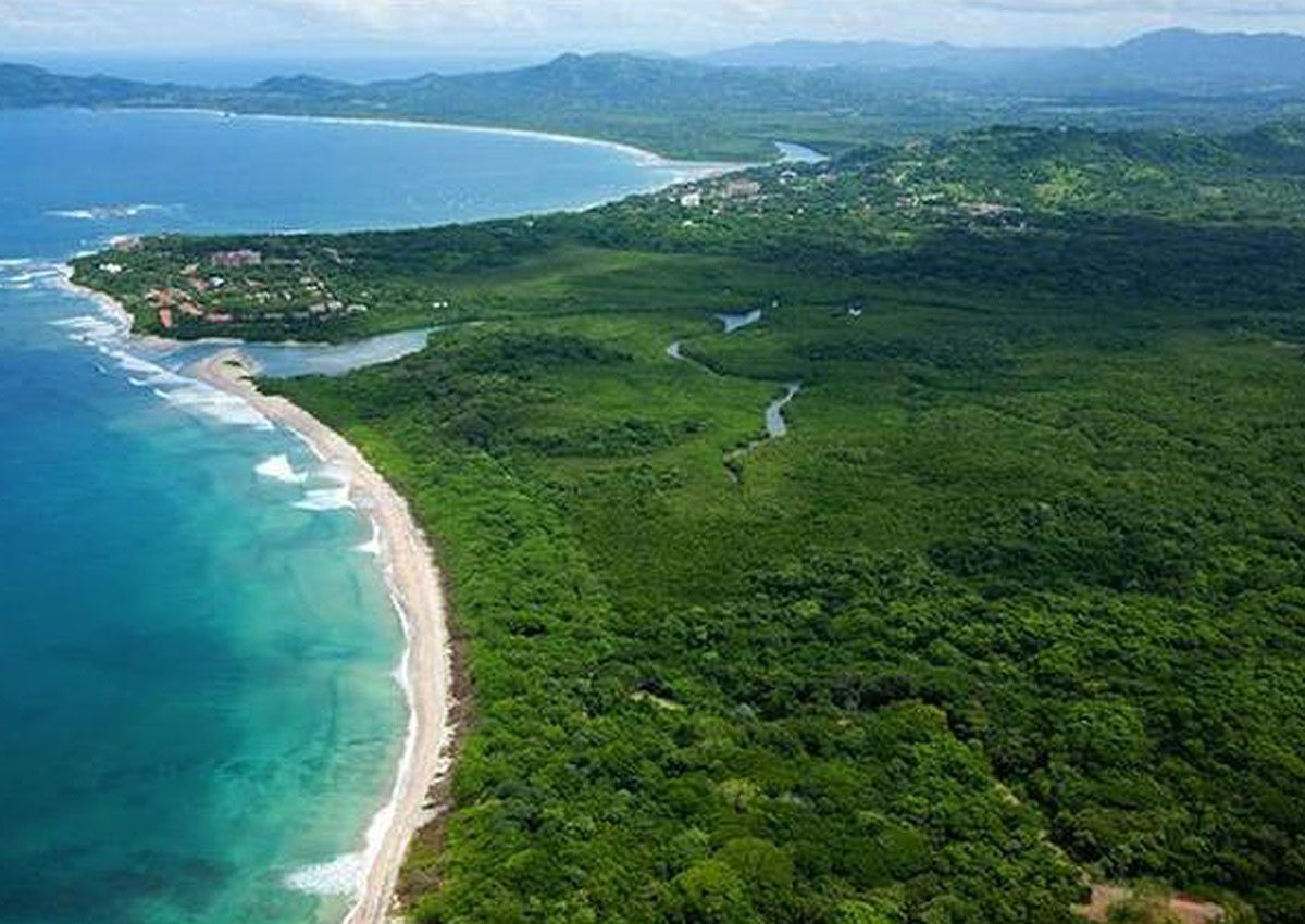 Aerial View of Playa Langosta, Costa Rica