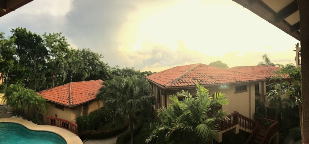 view from porch pano