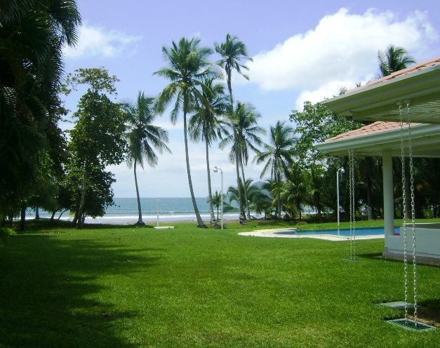 Privately Owned, Custom Beachfront Home, Side