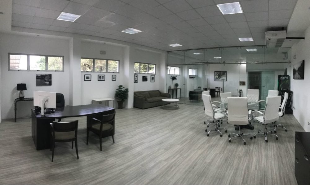 commercial building furnished