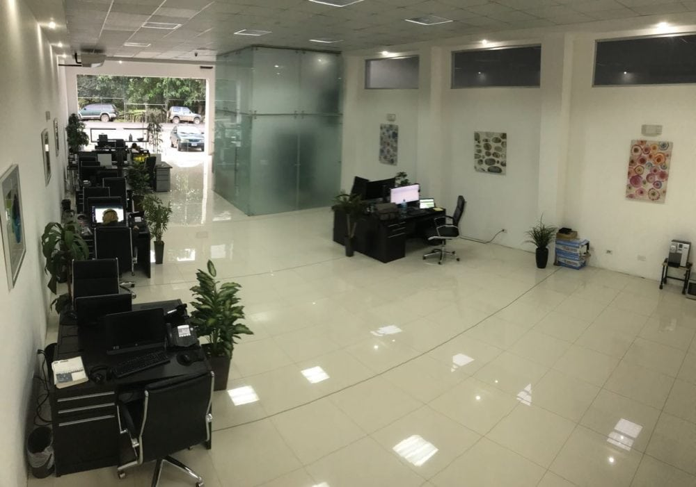 commercial building furnished downstairs