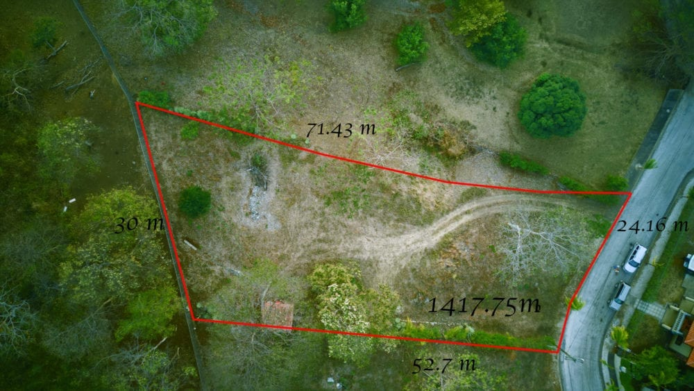 10 – Lot Size, View From Above – Oceanview Lot in Gated Community Close To Beach