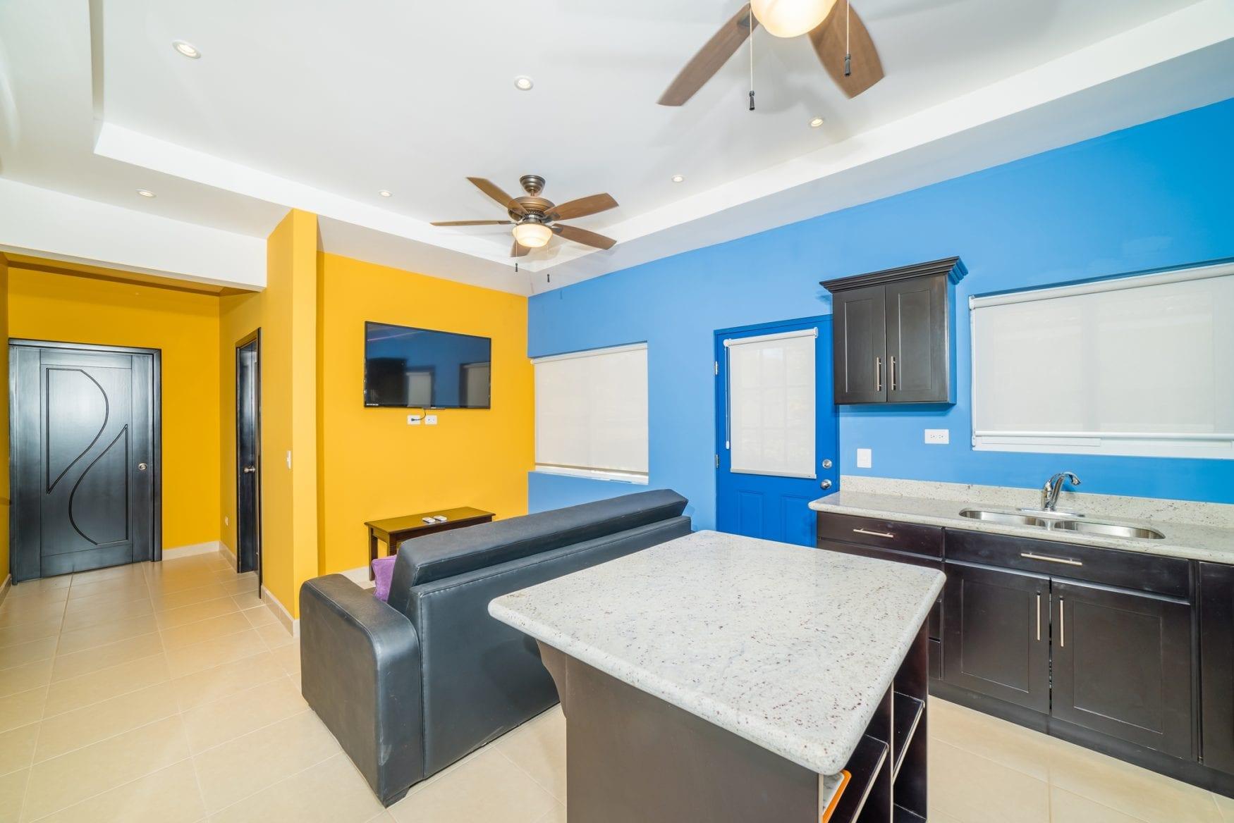 Guest house kitchen island