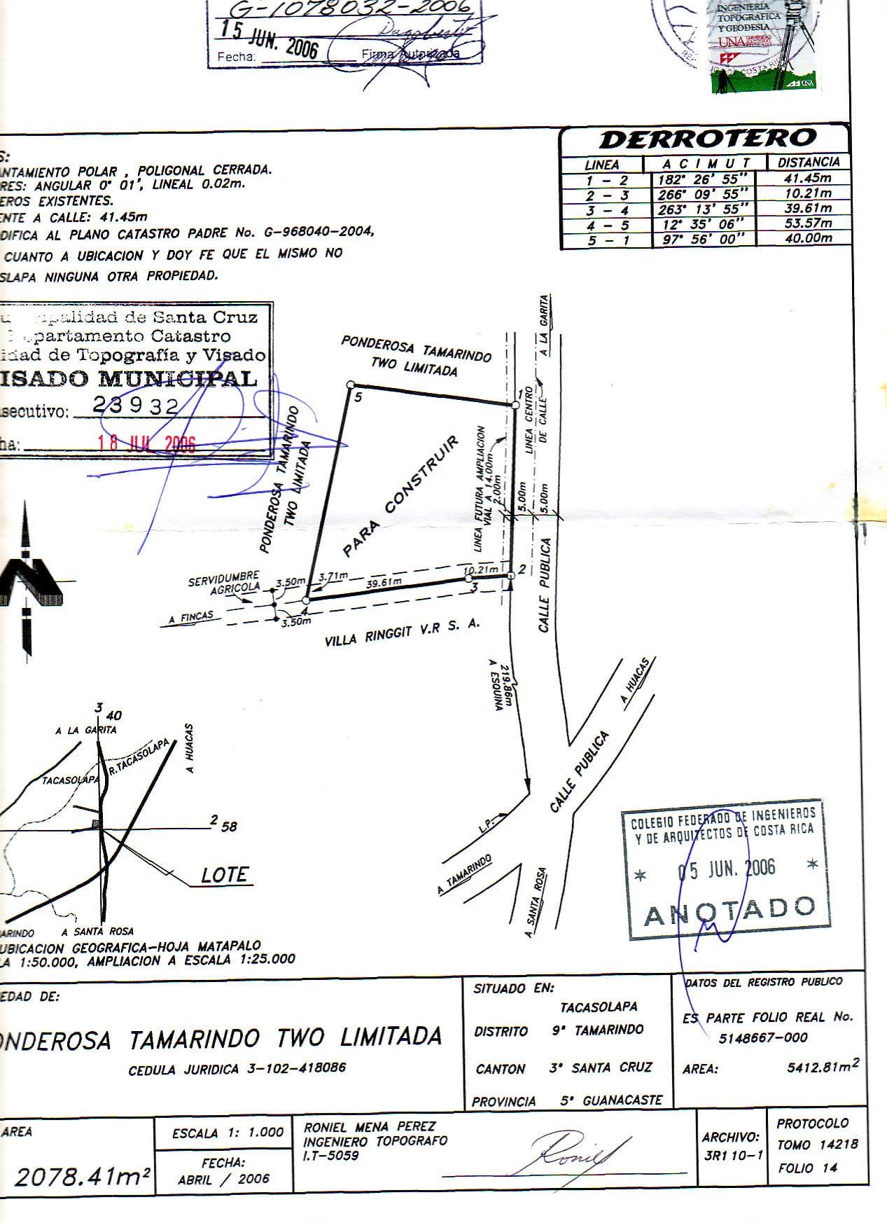 esmeralda lot 10A g-1078032-2006